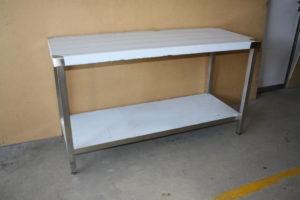 Mesa en acero inoxidable para hostelería